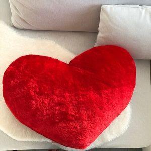 big heart plush pillow